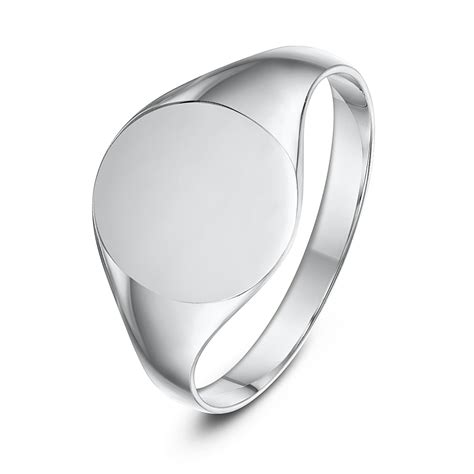 sterling silver oval shape signet ring ladie s