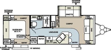 rockwood trailers floor plans 2008 forest river rockwood 8272s travel trailer riceville
