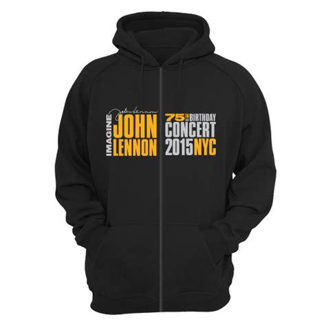 Hoodie Jhon Lenon Imagine Navy imagine lennon 75th official gig poster