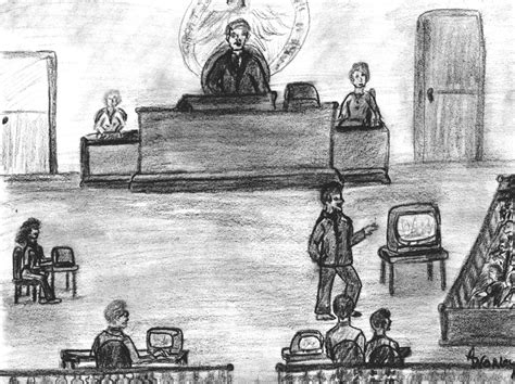 Courtroom Drawing
