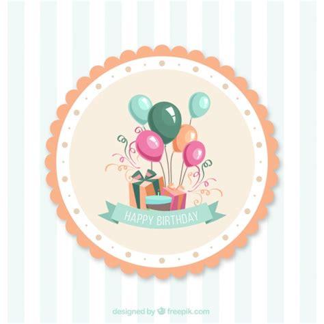 felicitaciones de cumpleanos con torta de colores tarjetas de cumplea 241 os de dibujos animados de vectores