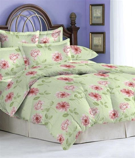 bombay dyeing bed sheets bombay dyeing green pink cotton double bed sheet with 2