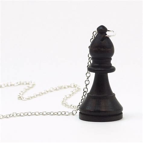Upcycled Jewelry - chess piece necklace black bishop jewelry by tanith rohe on deviantart