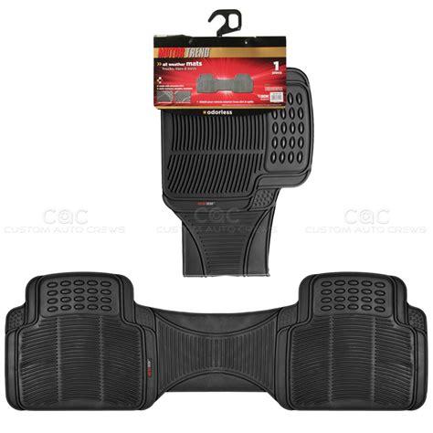 1pc black rubber floor mat rear car suv heavy duty all