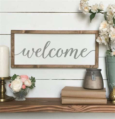 farmhouse wall decor welcome sign welcome wood sign farmhouse wall decor