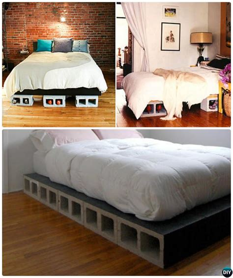 cinder block bed frame unexpected diy concrete block furniture projects