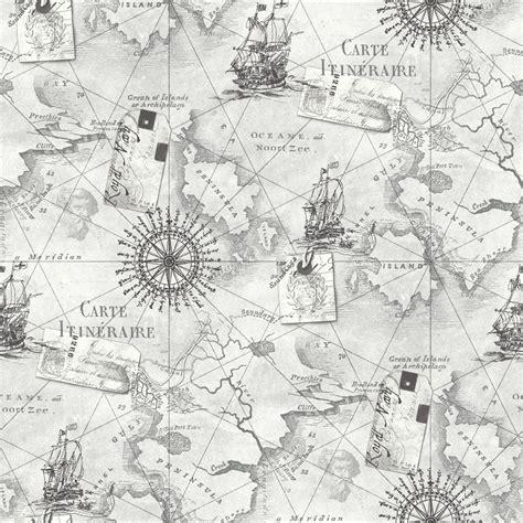 grey nautical wallpaper arthouse navigator cartography vintage nautical map