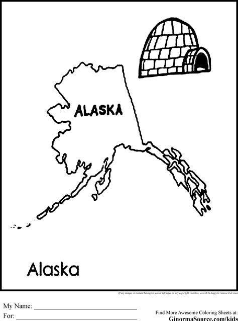 coloring page map of alaska alaska coloring pages coloring home