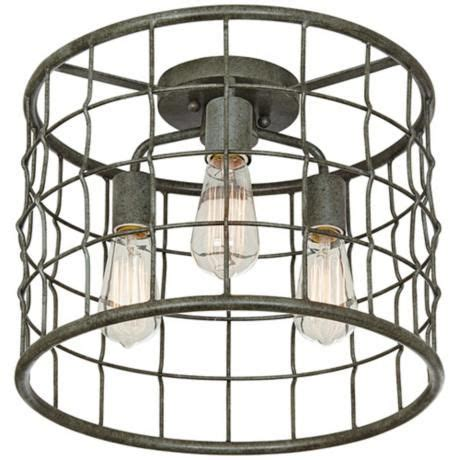 dunmore industrial cage 15 quot wide galvanized ceiling light farmhouse flush mount ceiling 69 best basement ideas images on rustic bars basement ideas and home ideas