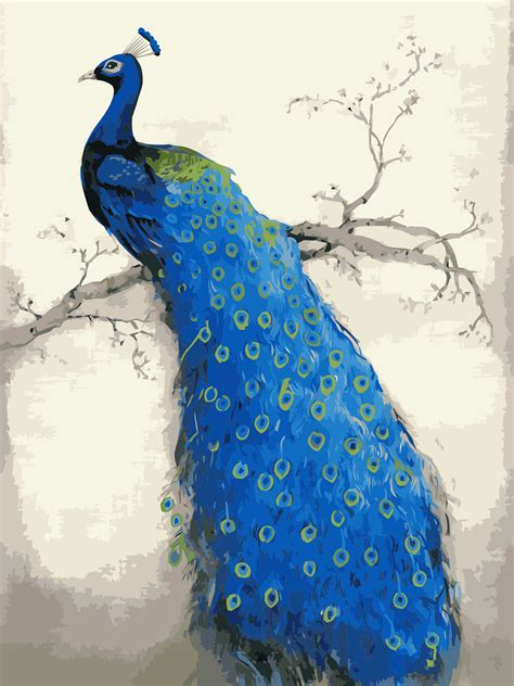 Lukisan Hewan Real promoci 243 n de abstracto pinturas de pavo real compra abstracto pinturas de pavo real