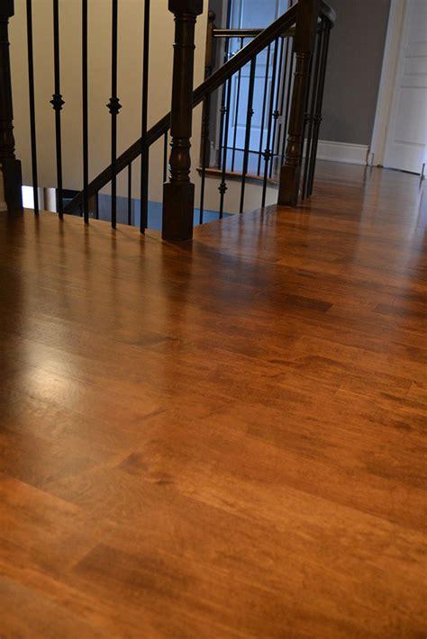 sanding and refinishing hardwood flooring and staircase