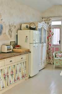 Fabric Kitchen Curtains Decor 32 Sweet Shabby Chic Kitchen Decor Ideas To Try Shelterness