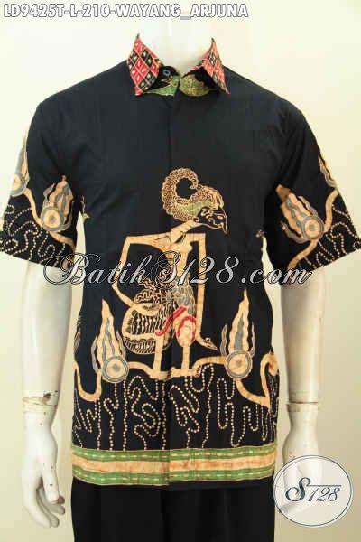 Ms Kemeja Pria Lengan Pendek Furing Hem Arjuna Batik Premium 1 batik hem pria terkini pakaian batik lengan pendek motif