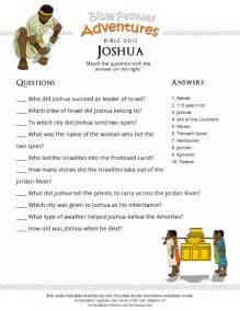 printable bible quiz for kids joshua free download