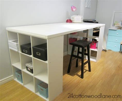 diy craft desk with storage diy craft room table cottonwood designs