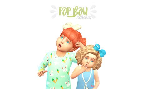 my sims 4 blog hair bow by karzalee my sims 4 blog pop hair bow for toddlers by magicalgirlsimmer