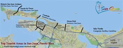 San Juan Puerto Rico Map by San Juan Puerto Rico Destinations Best Places For