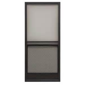 superior 36in reversible aluminum screen door in