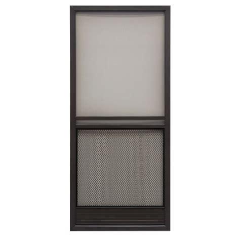 Bronze Screen Door by Superior 36in Reversible Aluminum Screen Door In