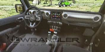 look production interior of the 2018 jeep wrangler