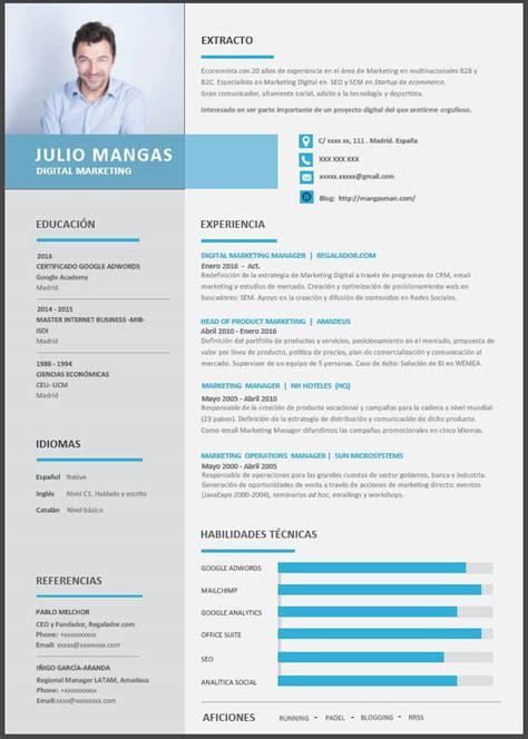 Modelo Curriculum Argentina 2017 El Mejor Formato De Curr 237 Culum Para Un Marketero De Hoy