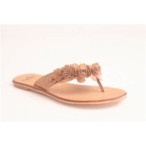sandals with flowers caprice caprice sand nubuck leather toe post sandal with