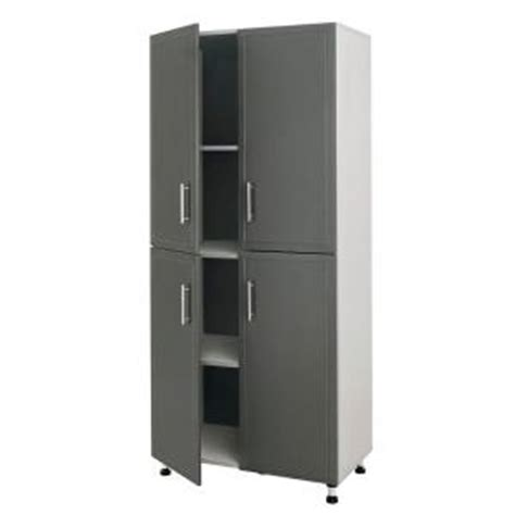 Home Depot Closetmaid Cabinet closetmaid progarage 4 door laminated storage cabinet in gray 12412 the home depot