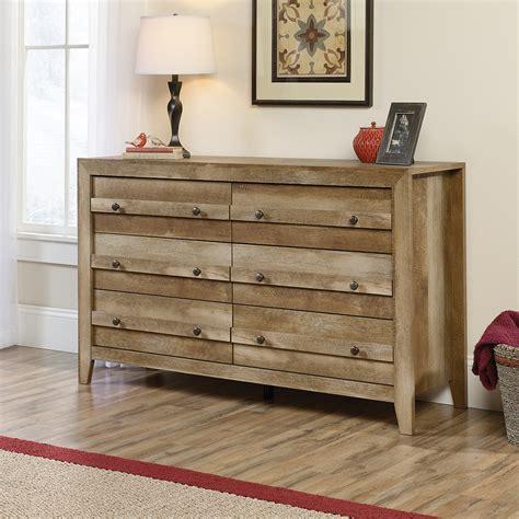 Sauder Dakota Pass 6 Drawer Dresser Modern Farmhouse Furniture