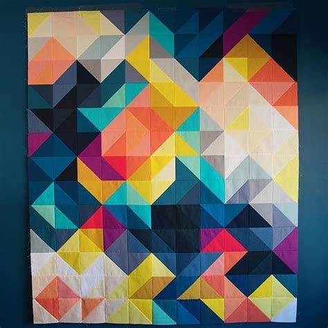 Geometric Patchwork Patterns - best 25 geometric quilt ideas on stripe quilt