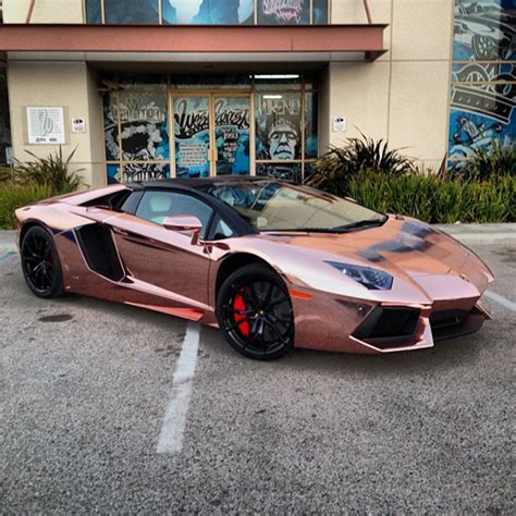 Tyga Visits West Coast Customs To Get His Lamborghini Aventador Covered In A Gold Color Young