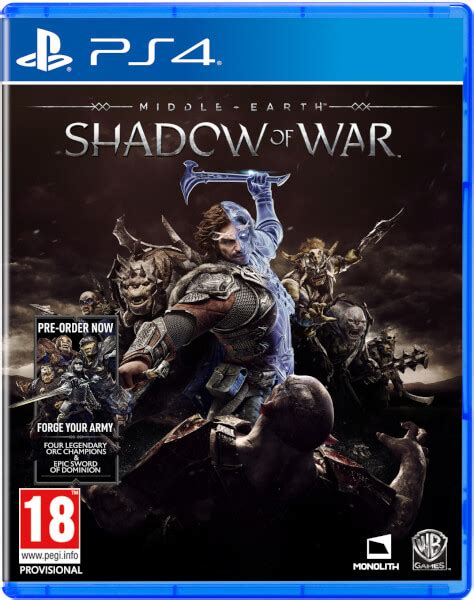 Kaset Ps4 Middle Earth Shadow Of War Middle Earth Shadow Of War Ps4 Zavvi