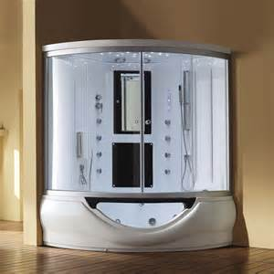 eagle bath steam shower enclosure with whirlpool bathtub
