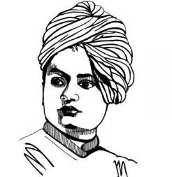 Swami Vivekananda Black And White Sketch Coloring Page sketch template