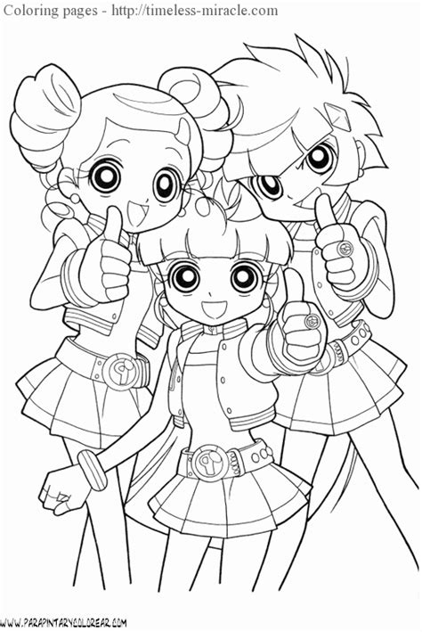 Ppg And Rrb Coloring Pages Coloring Pages Powerpuff Z Coloring Pages