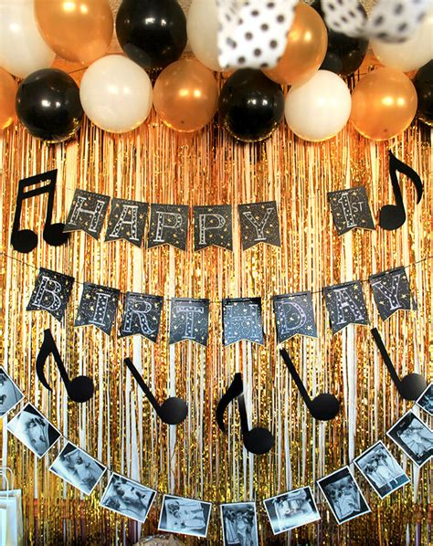 gold event themes a music themed first birthday party black gold