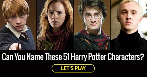 harry potter names can you name these 51 harry potter trivia quiz quiz club