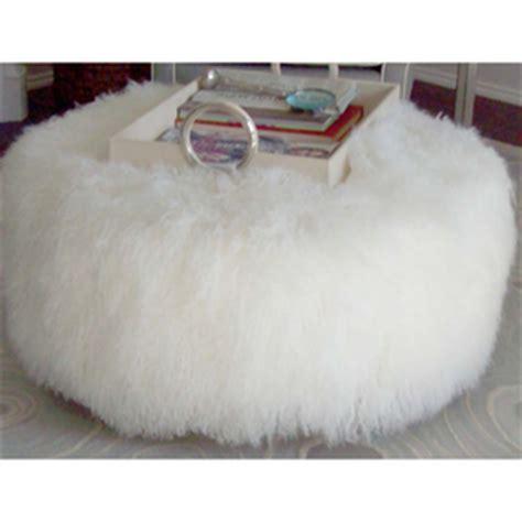 white fur ottoman target white fur ottoman by diy olioboard