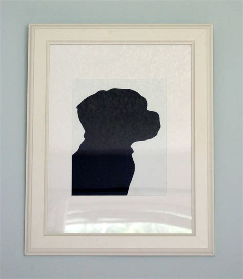 diy silhouette make bake and diy puppy silhouette portrait