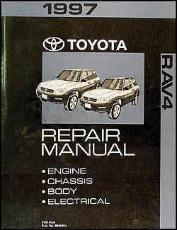 1997 Toyota Rav4 Repair Shop Manual Original