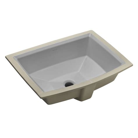 kohler archer vitreous china undermount bathroom sink with