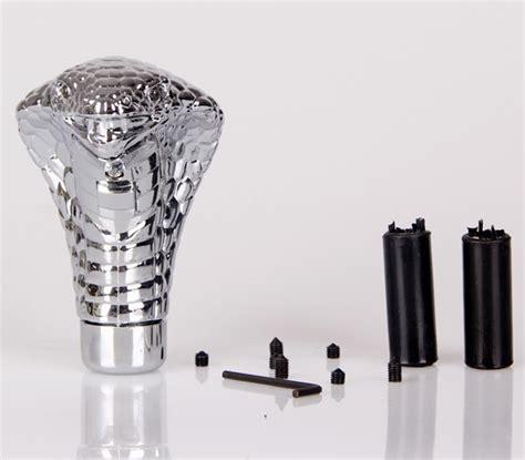 Slang Knob by Handgeschakelde Versnellingsbak Zilveren Cobra