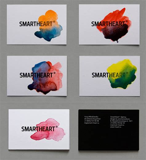 Handcrafted Card Company - an awesome collection of watercolor business cards naldz