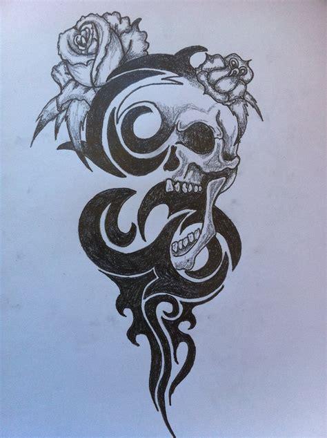 tribal skull stencil cake ideas  designs
