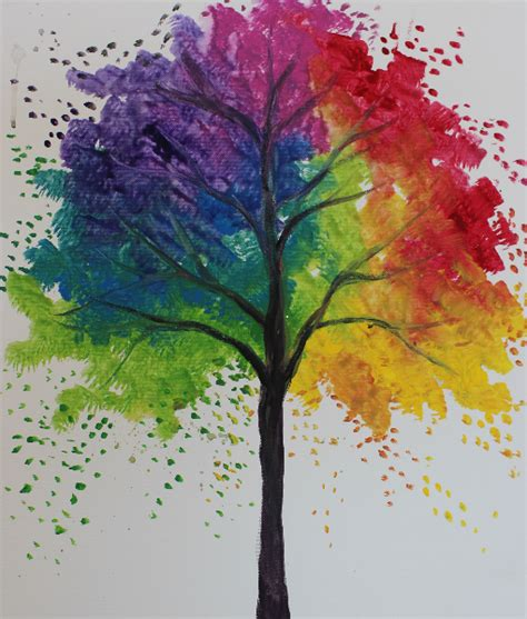 rainbow tree rainbow tree painting at home