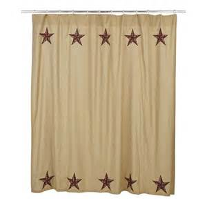 Country Bath Shower Curtain Rustic Country Primitive Landon Star Shower Curtain