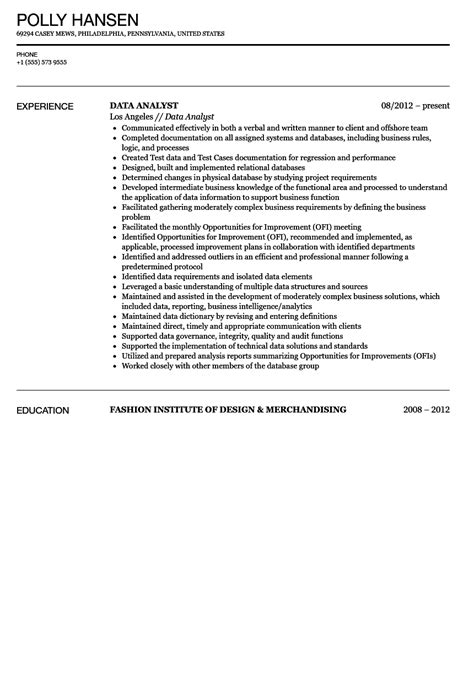 data analyst description resume dictionary noun skills data analyst resume sle