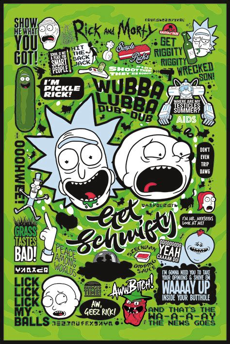 Next Doormat Rick And Morty Quotes Poster Sold At Europosters