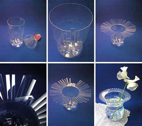 vaso di plastica riciclo bottiglie di plastica idee per un riciclo creativo