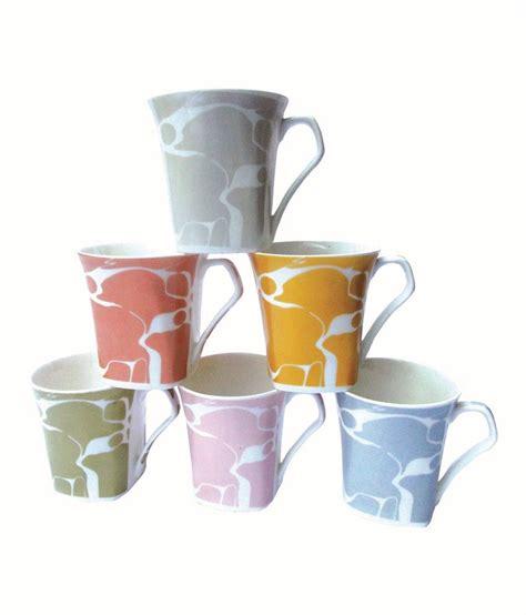 buy coffee mugs online india upc multicolored bone china coffee mugs pack of 6 buy