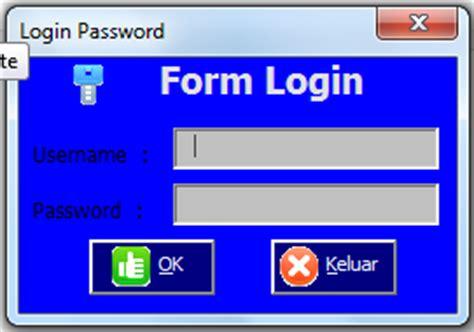 membuat form password di excel cara membuat form login pada excel anang utama